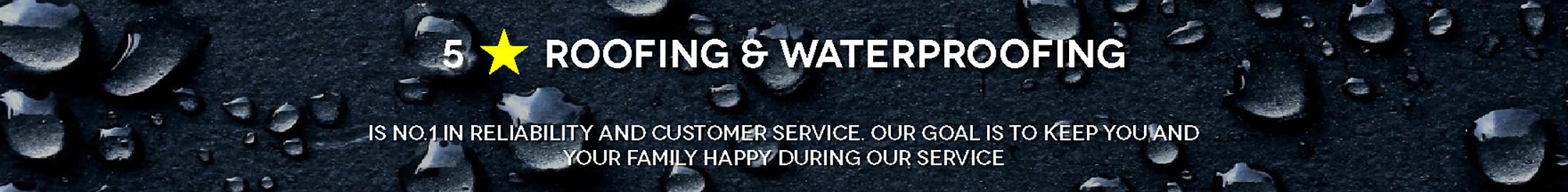 5* Roofing & Waterproofing-Banner
